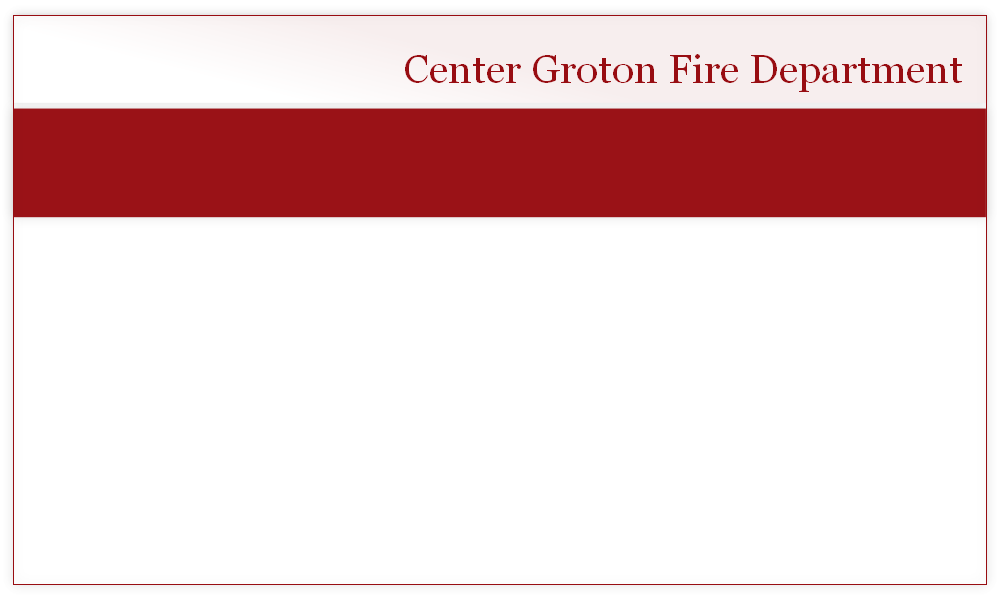 Center Groton Fire Department